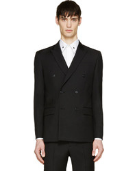 Givenchy Black Wool Double Breasted Blazer