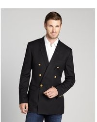 Dolce & Gabbana Black Wool Double Breasted Martini Blazer