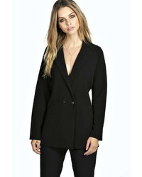 Boohoo Erin Double Breasted Tailored Blazer