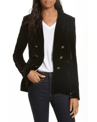 Veronica Beard Briar Velvet Double Breasted Blazer