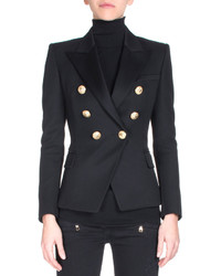 Balmain Classic Double Breasted Wool Blazer