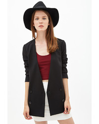 Forever 21 Collarless Double Breasted Blazer