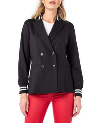 Liverpool Los Angeles Contrast Cuff Double Breasted Jacket