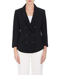 Narciso Rodriguez Crepe Double Breasted Blazer