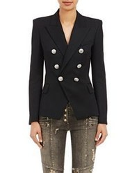 Balmain Double Breasted Blazer Black