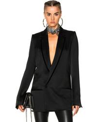 Haider Ackermann Double Breasted Blazer In Black