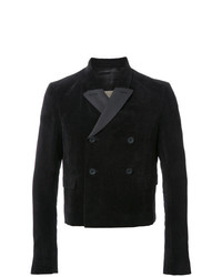 Rick Owens Double Breasted Jacket Black
