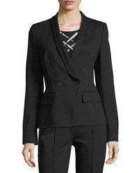 Escada Double Breasted Jersey Blazer