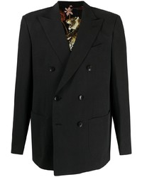 Etro Double Breasted Linen Blend Jacket