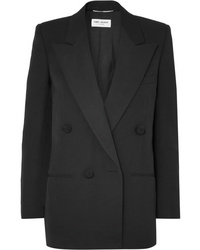 Saint Laurent Double Breasted Med Wool Blazer