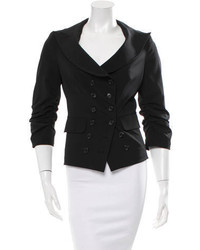 Elizabeth and James Double Breasted Ruched Blazer