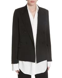 Vince Double Breasted Tuxedo Jacket