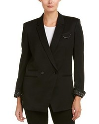 The Kooples Double Breasted Wool Blend Blazer
