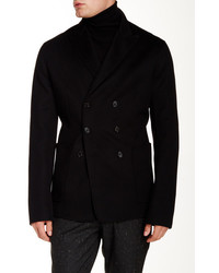 Ports 1961 Double Breasted Wool Blend Coat