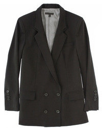 ChicNova Double Deck Neckline Tailored Blazer In Black
