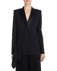 Alexander McQueen Drape Detail Double Breasted Jacket