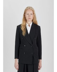 Dusan Duan Gabardine Double Breasted Blazer