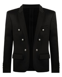 Balmain Embossed Buttons Double Breasted Blazer