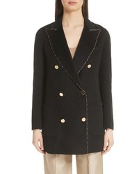Emporio Armani Gold Sequin Melton Wool Jacket