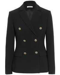 Altuzarra Indiana Double Breasted Crepe Blazer Black