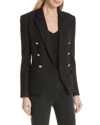 L'Agence Kenzie Sparkle Double Breasted Blazer