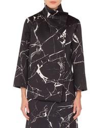 Akris Marble Tile Jacquard Wool Blend Jacket