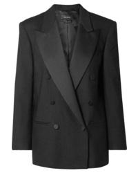 Isabel Marant Meagan Oversized Med Woven Blazer