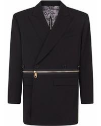 Dolce & Gabbana Oversized Zip Around Wool Blazer