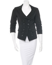 Elizabeth and James Peaked Lapel Double Breasted Blazer
