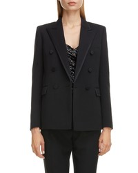 Saint Laurent Piped Double Breasted Jacket