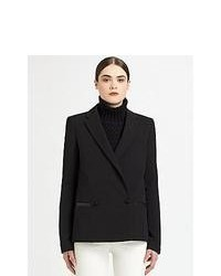 Proenza Schouler Textured Double Breasted Blazer Black