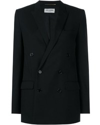 Saint Laurent Classic Wool Double Breasted Blazer