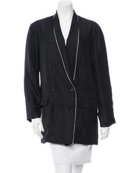 Rag & Bone Satin Double Breasted Blazer