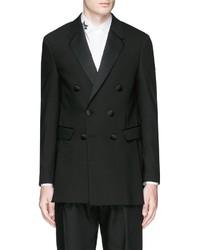 Neil Barrett Satin Notch Lapel Skinny Fit Tuxedo Blazer