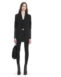 Alexander Wang Single Breasted Blazer With Leather Sleeves