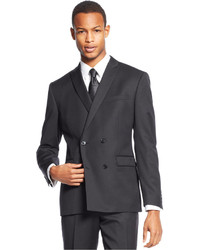 Bar III Slim Fit Black Double Breasted Solid Jacket