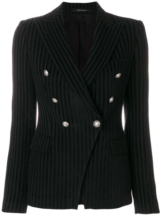 Tagliatore Striped Double Breasted Blazer