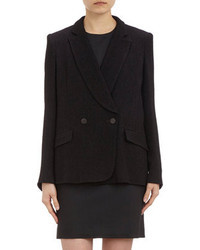 Theyskens' Theory Textured Double Breasted Blazer