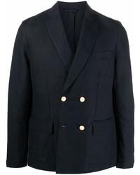 Emporio Armani Textured Finish Double Breasted Blazer