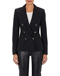 Barneys New York Wool Blend Double Breasted Jacket