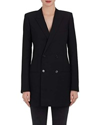 Saint Laurent Wool Gabardine Double Breasted Blazer