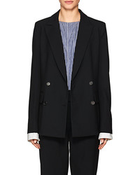Yune Ho Alex Wool Blend Double Breasted Blazer