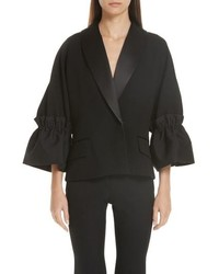 Roksanda Zenitha Cinch Elbow Sleeve Tuxedo Jacket