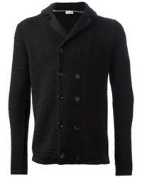 Black Double Breasted Cardigan