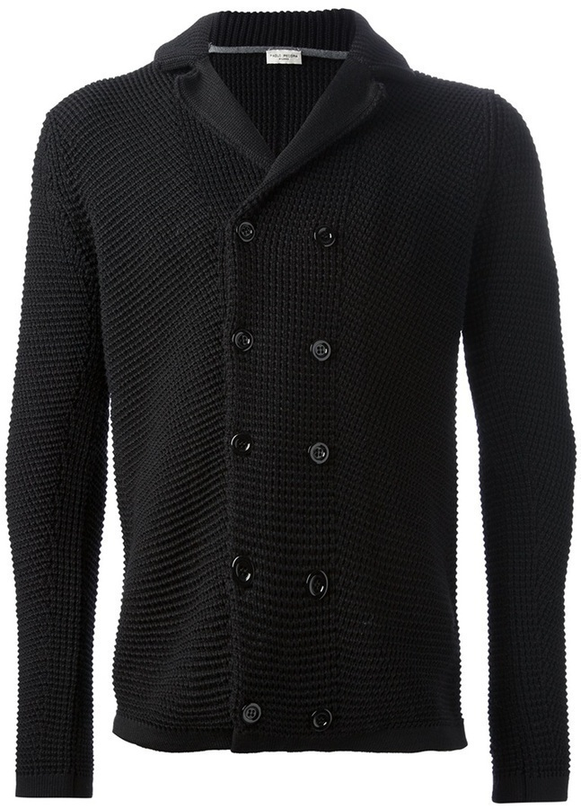 Paolo Pecora Double Breasted Knit Cardigan