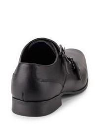 ... Calvin Klein Bayard Weave Embossed Monk Strap Loafers ...