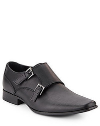 Calvin Klein Bayard Weave Embossed Monk Strap Loafers