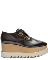 Stella McCartney Elyse Monk Strap Faux Leather Platform Shoes