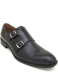 Robert Wayne Rw By Arnold Perforated Double Monk Strap Dress Shoes