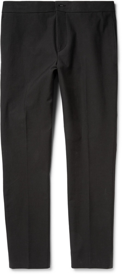 Acne Studios Brady Slim Fit Cropped Cotton Blend Trousers | Where ...
